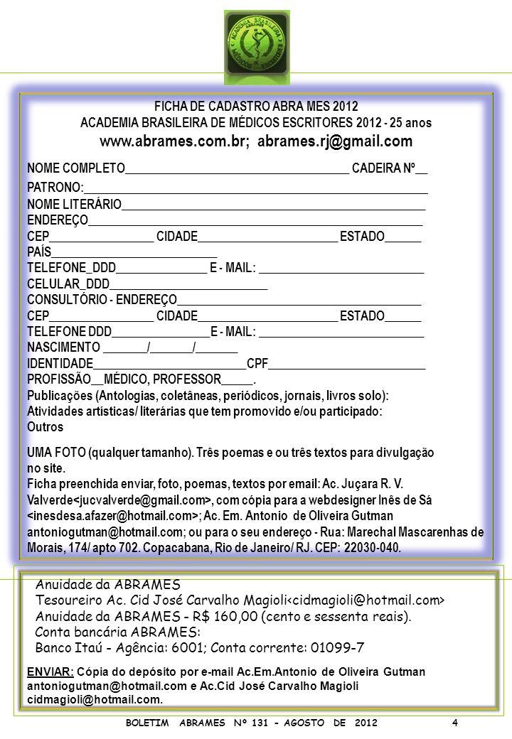 www.abrames.com.br; abrames.rj@gmail.com