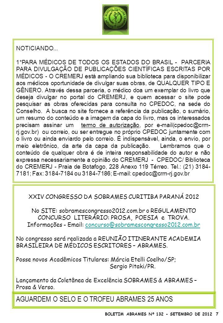 XXIV CONGRESSO DA SOBRAMES CURITIBA PARANÁ 2012