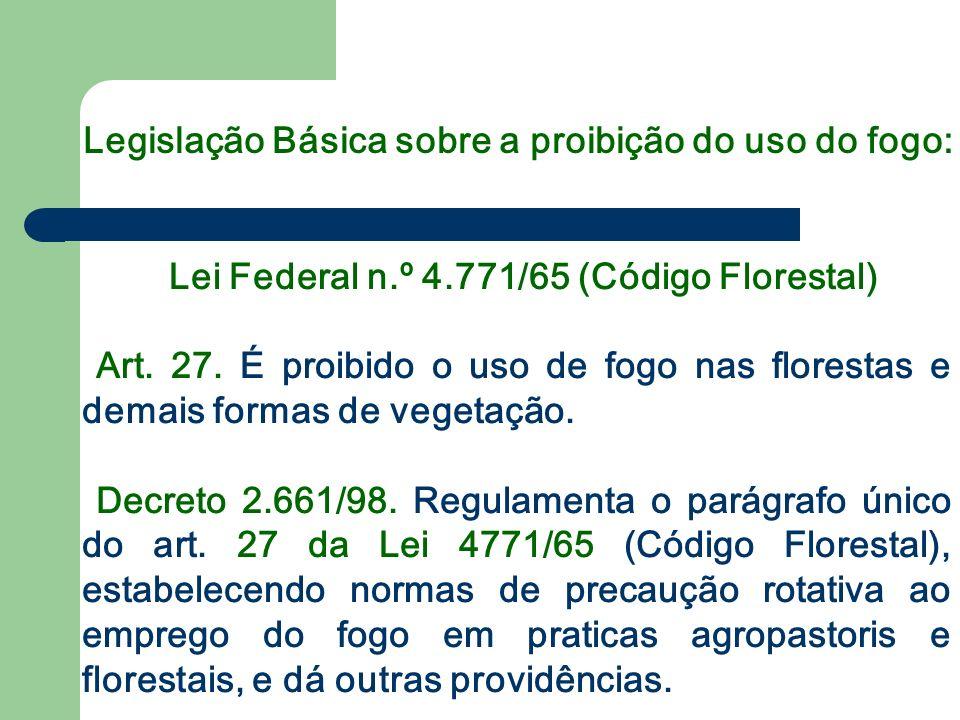 Lei Federal n.º 4.771/65 (Código Florestal)