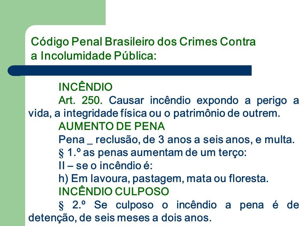 Código Penal Brasileiro dos Crimes Contra a Incolumidade Pública: