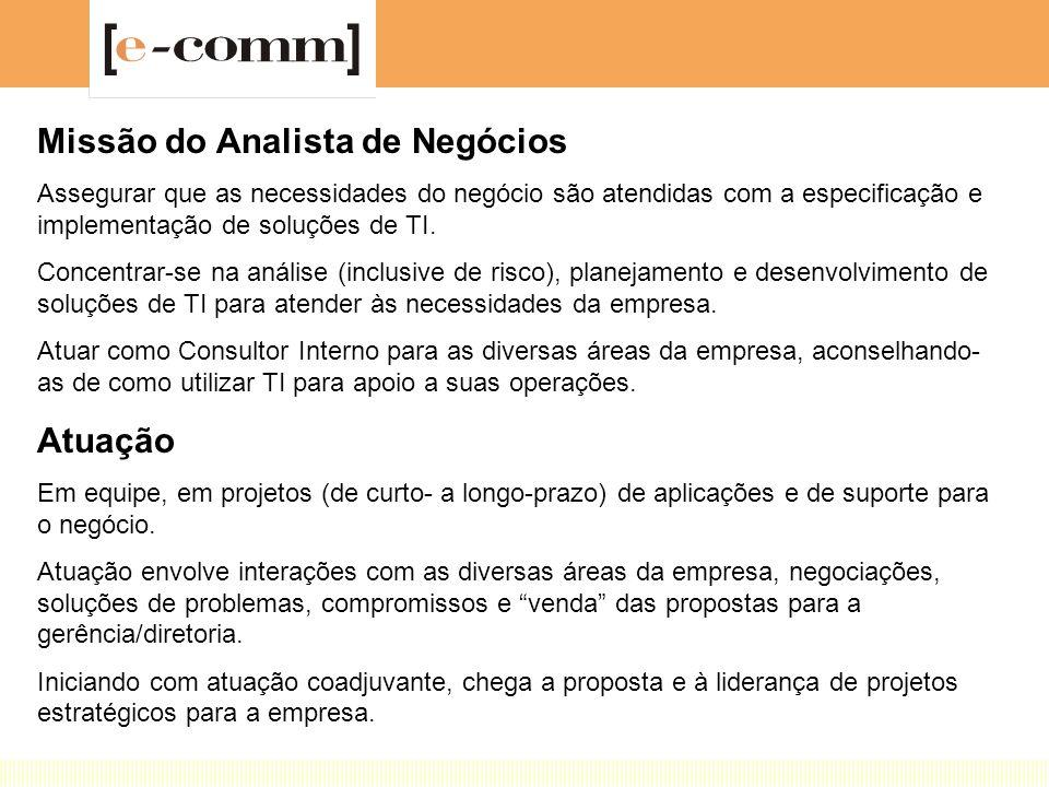 Missão do Analista de Negócios