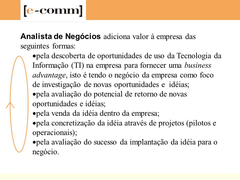 Analista de Negócios adiciona valor à empresa das seguintes formas: