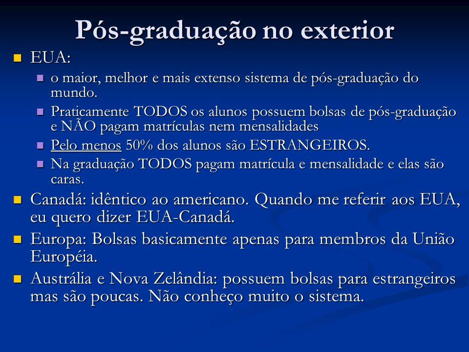 Pós-graduação no exterior