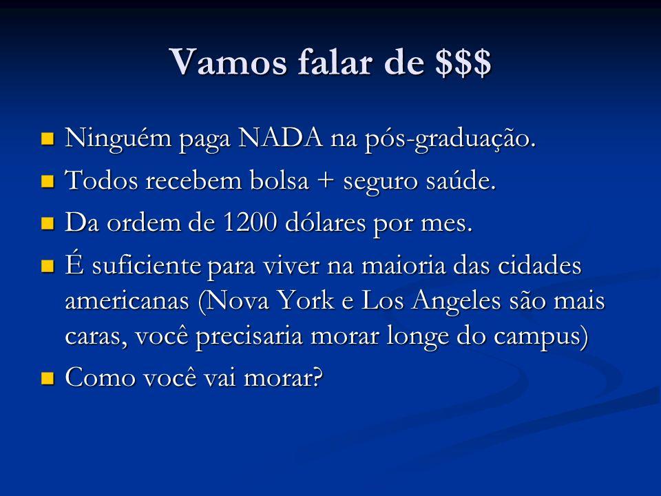 Vamos falar de $$$ Ninguém paga NADA na pós-graduação.