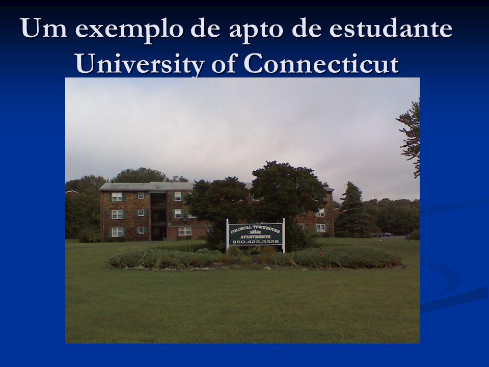 Um exemplo de apto de estudante University of Connecticut