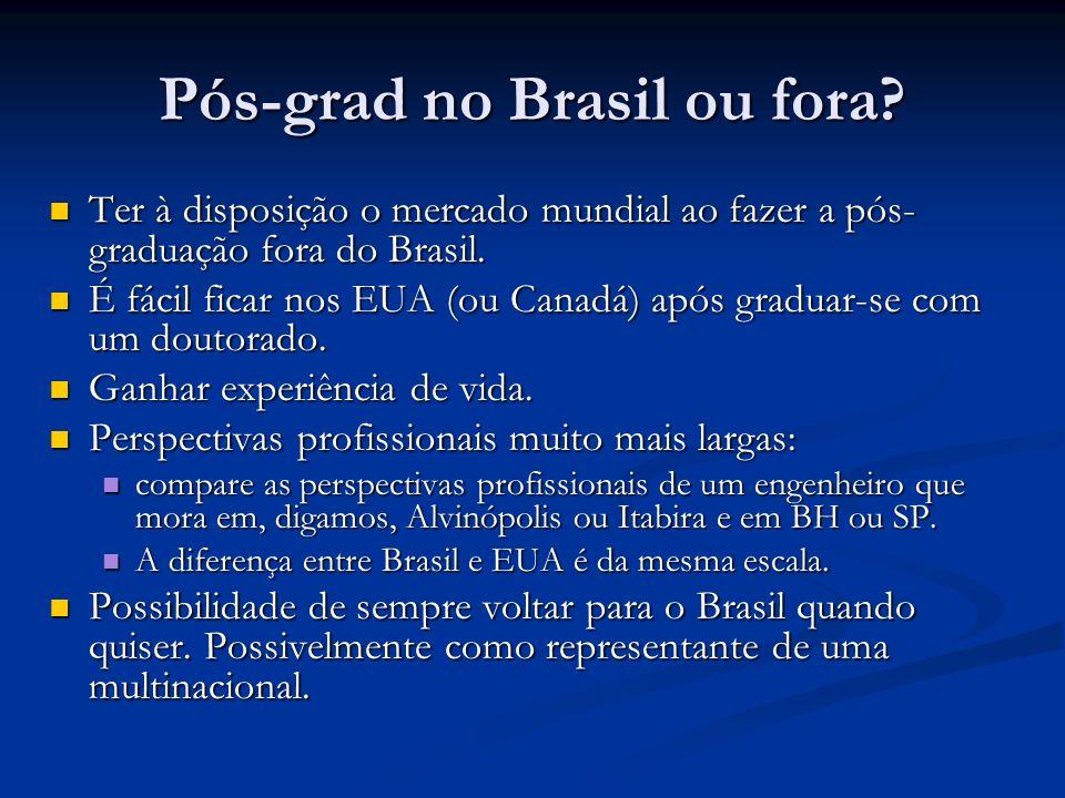 Pós-grad no Brasil ou fora