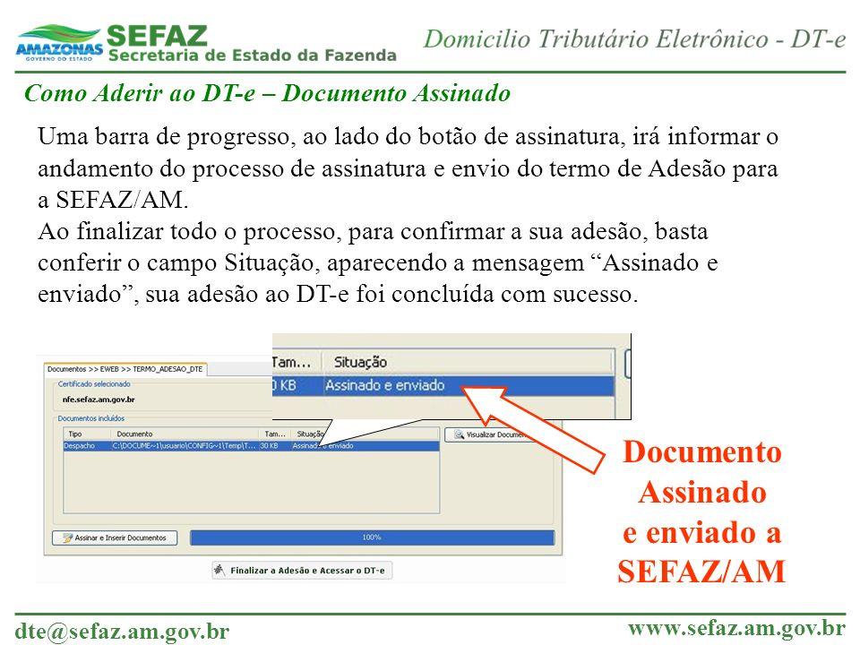 Documento Assinado e enviado a SEFAZ/AM