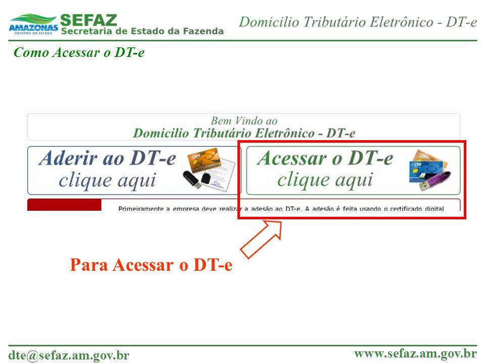 Como Acessar o DT-e Para Acessar o DT-e