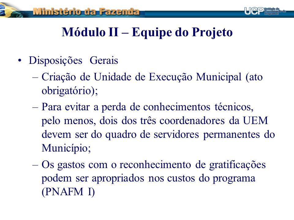Módulo II – Equipe do Projeto