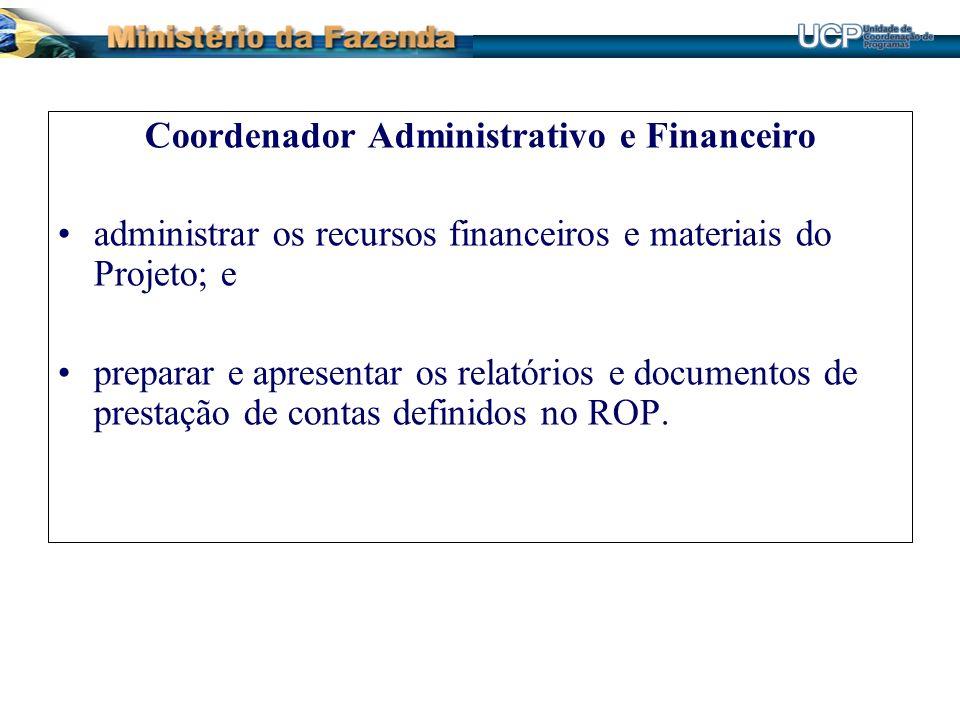 Coordenador Administrativo e Financeiro