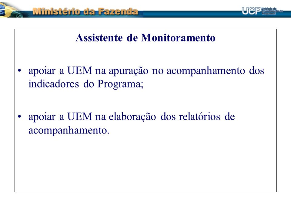 Assistente de Monitoramento