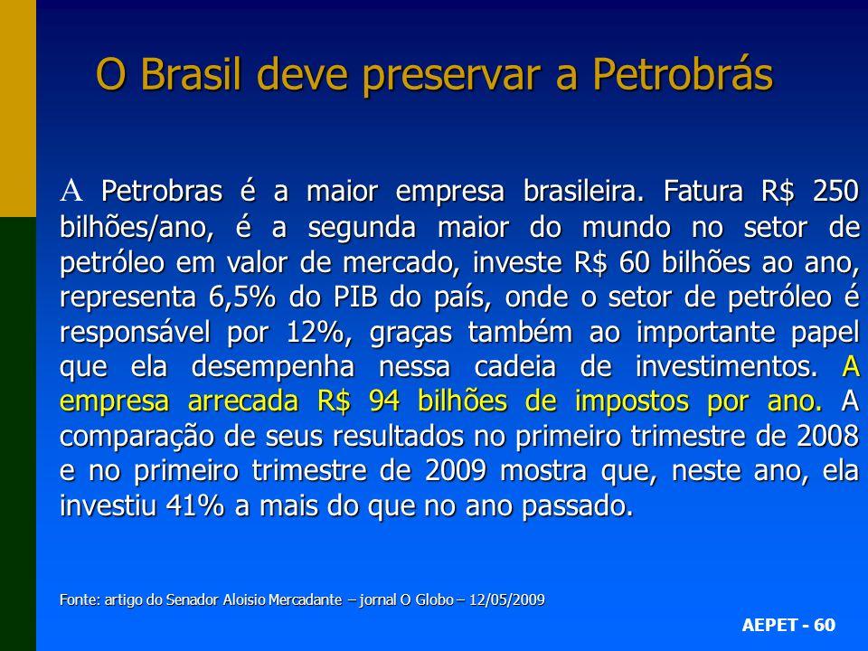 O Brasil deve preservar a Petrobrás
