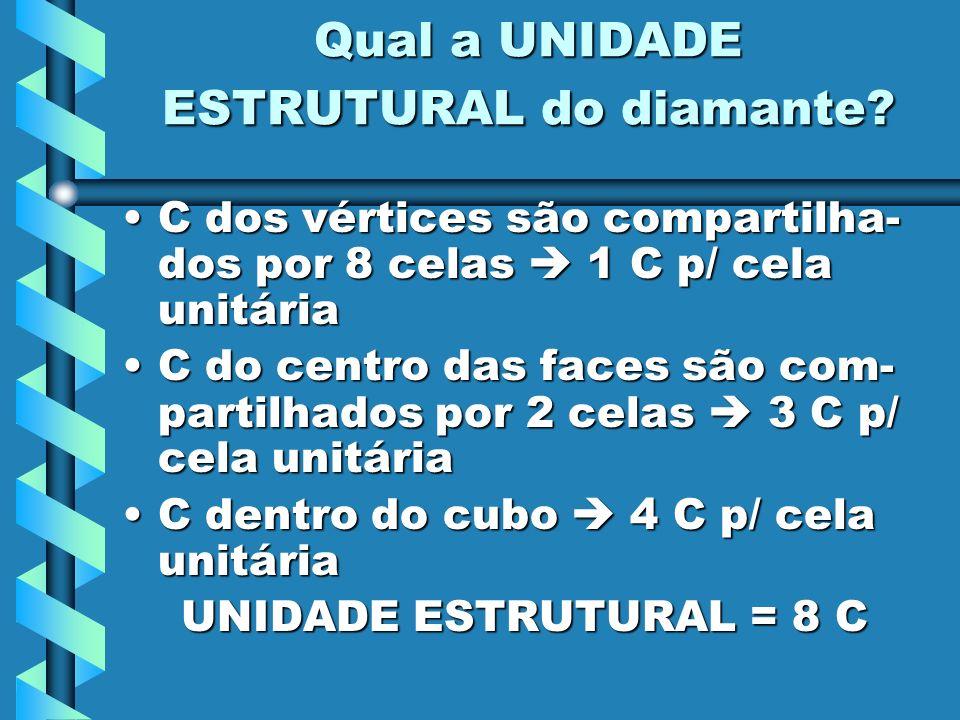 Qual a UNIDADE ESTRUTURAL do diamante