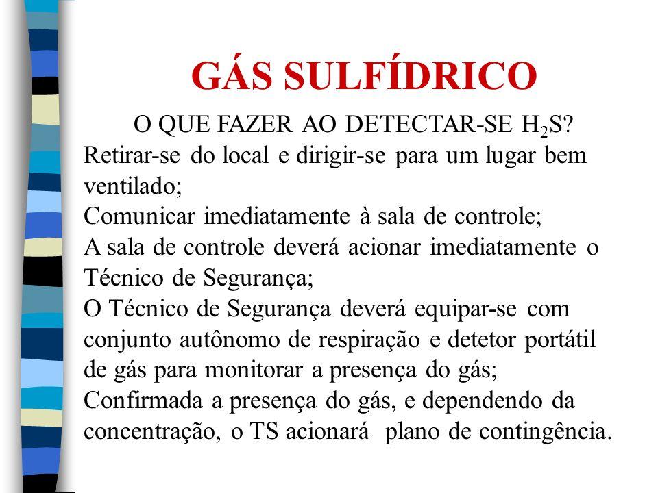 O QUE FAZER AO DETECTAR-SE H2S