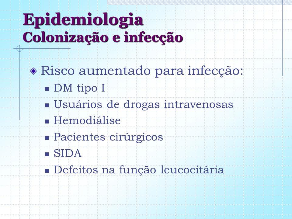 Epidemiologia Colonização e infecção