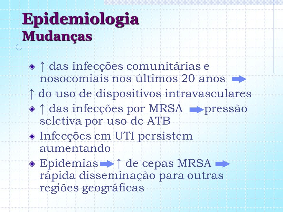 Epidemiologia Mudanças