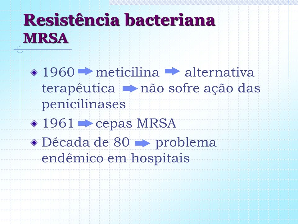 Resistência bacteriana MRSA