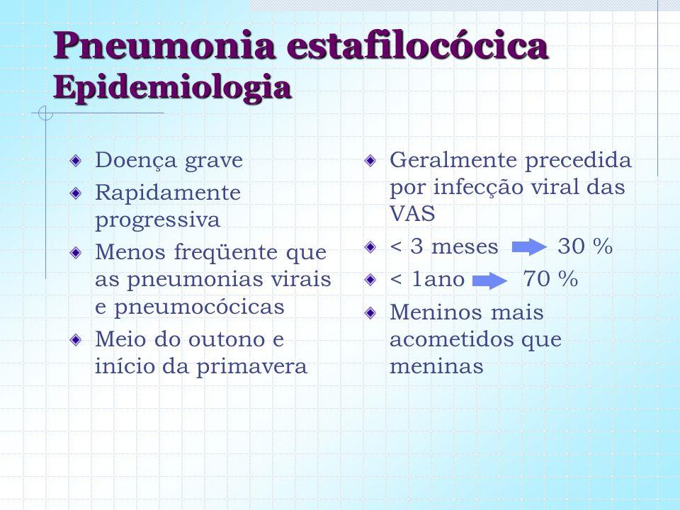 Pneumonia estafilocócica Epidemiologia