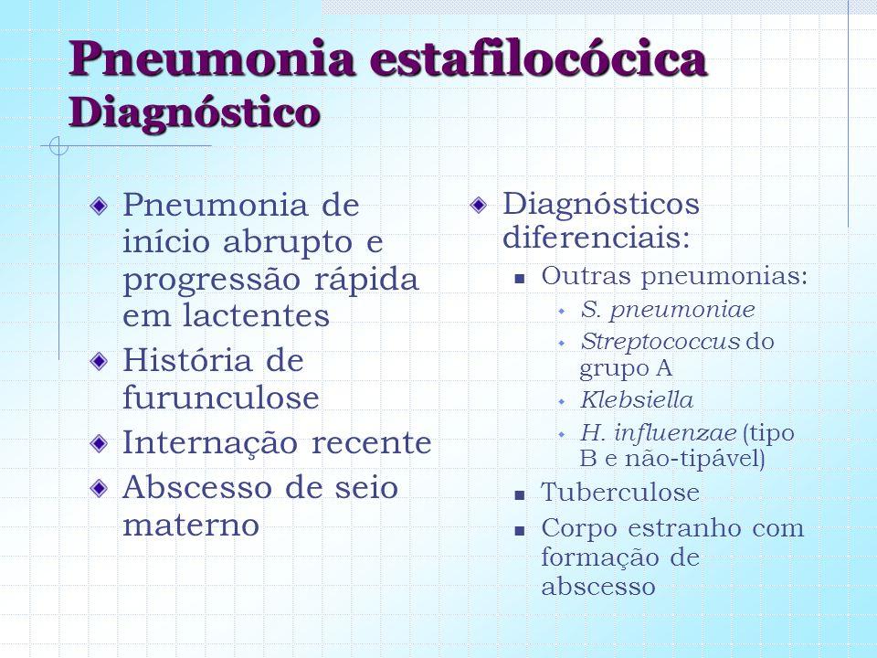 Pneumonia estafilocócica Diagnóstico