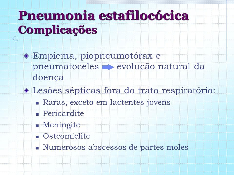 Pneumonia estafilocócica C0mplicações