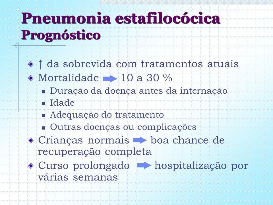 Pneumonia estafilocócica Prognóstico