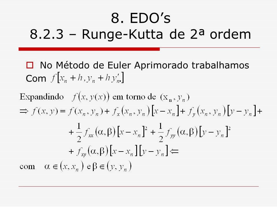 8. EDO's 8.2.3 – Runge-Kutta de 2ª ordem