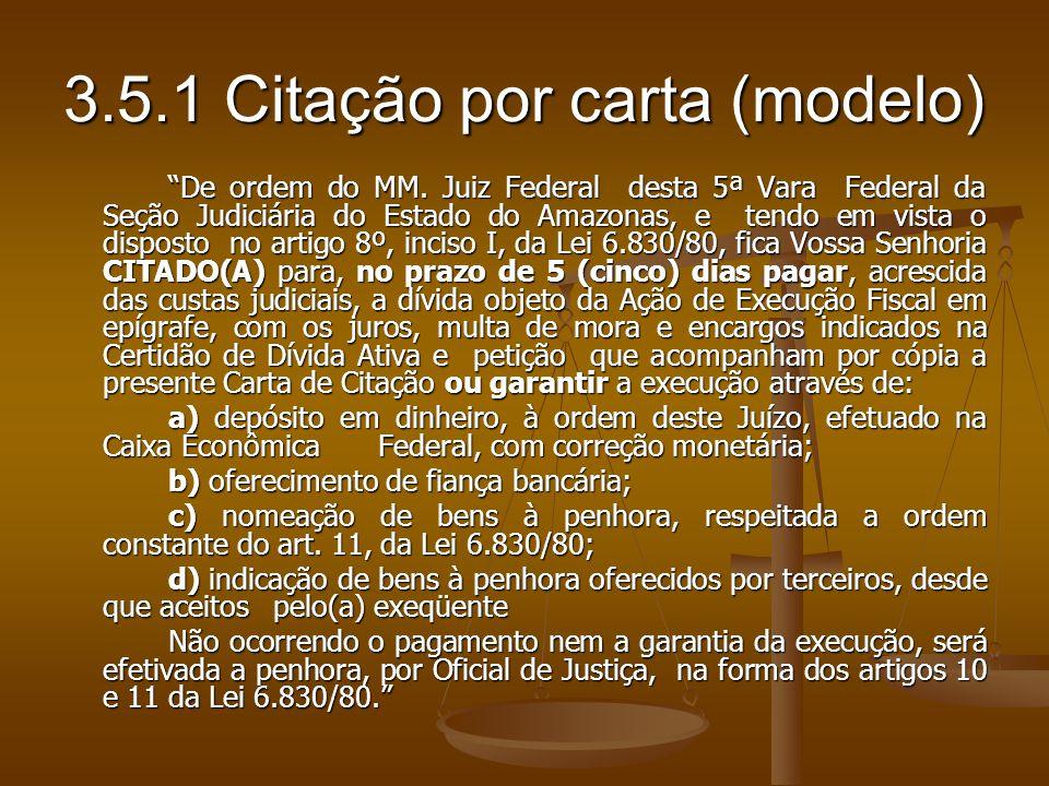 3.5.1 Citação por carta (modelo)
