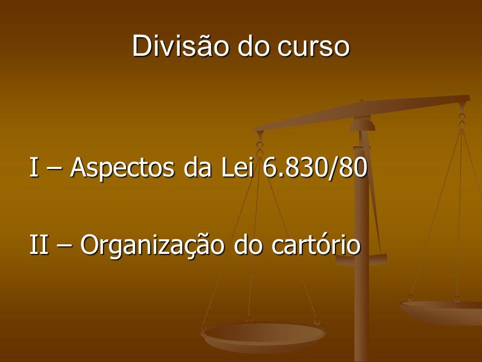 Divisão do curso I – Aspectos da Lei 6.830/80
