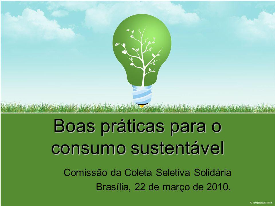 Boas práticas para o consumo sustentável