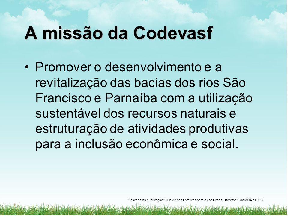 A missão da Codevasf