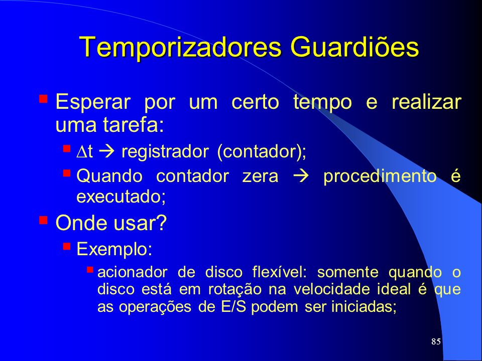 Temporizadores Guardiões