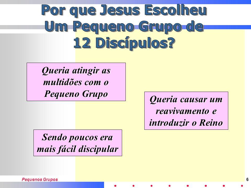 Por que Jesus Escolheu Um Pequeno Grupo de 12 Discípulos