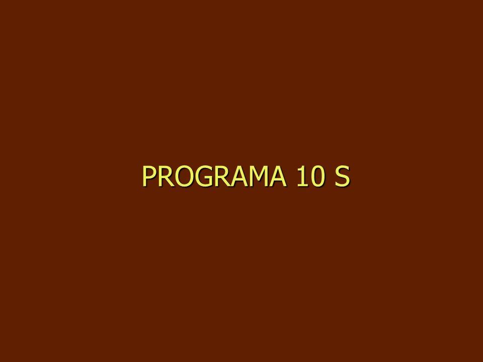 PROGRAMA 10 S