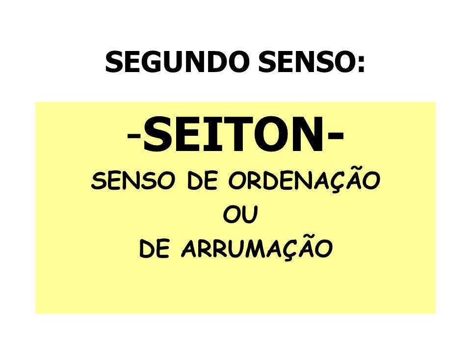 SEGUNDO SENSO: -SEITON- SENSO DE ORDENAÇÃO OU DE ARRUMAÇÃO