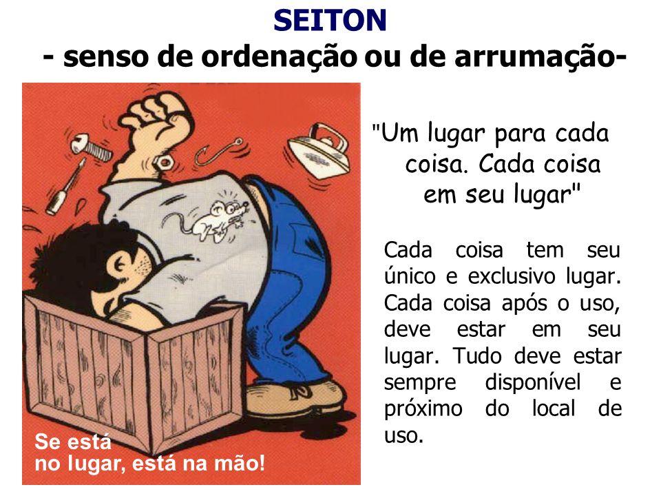 SEITON - senso de ordenação ou de arrumação-