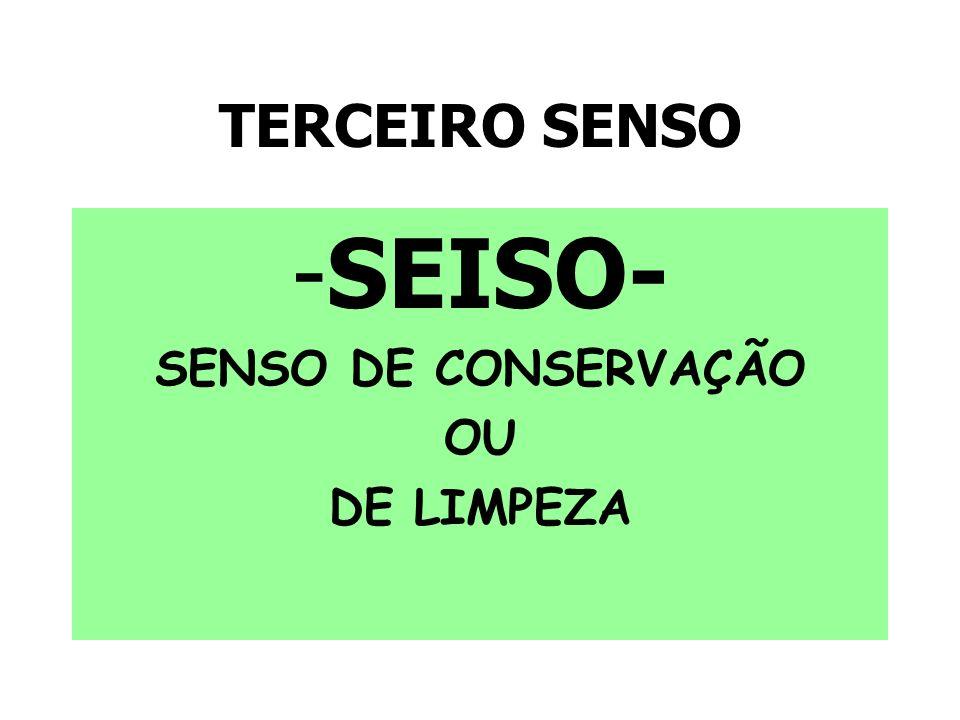 TERCEIRO SENSO -SEISO- SENSO DE CONSERVAÇÃO OU DE LIMPEZA