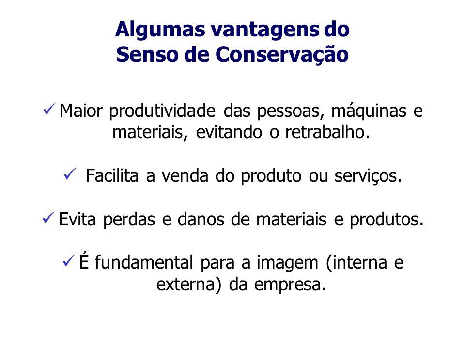 Algumas vantagens do Senso de Conservação