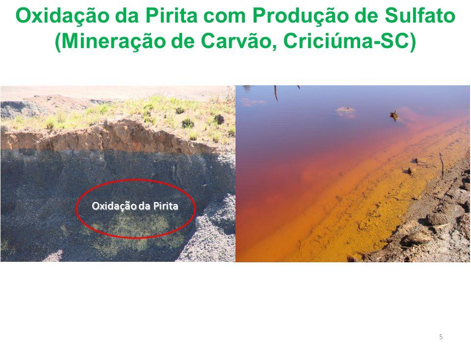 Oxidação da Pirita com Produção de Sulfato