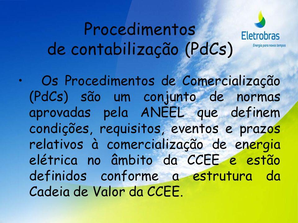 Procedimentos de contabilização (PdCs)