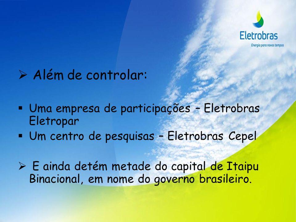 Além de controlar: Uma empresa de participações – Eletrobras Eletropar