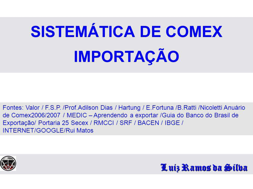 SISTEMÁTICA DE COMEX IMPORTAÇÃO
