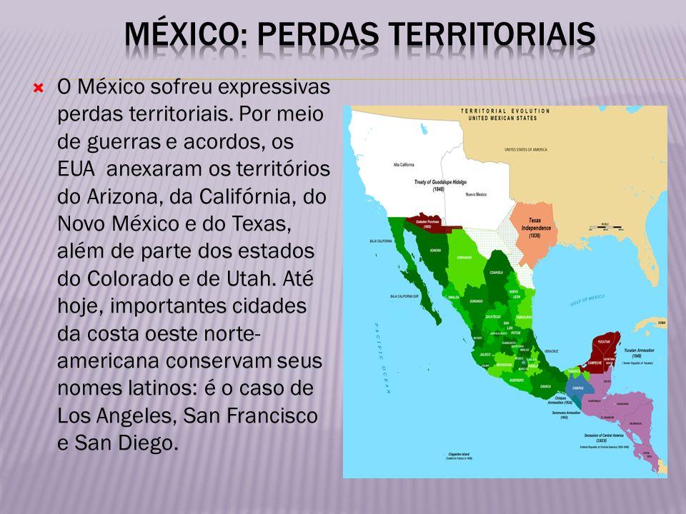 México: perdas territoriais