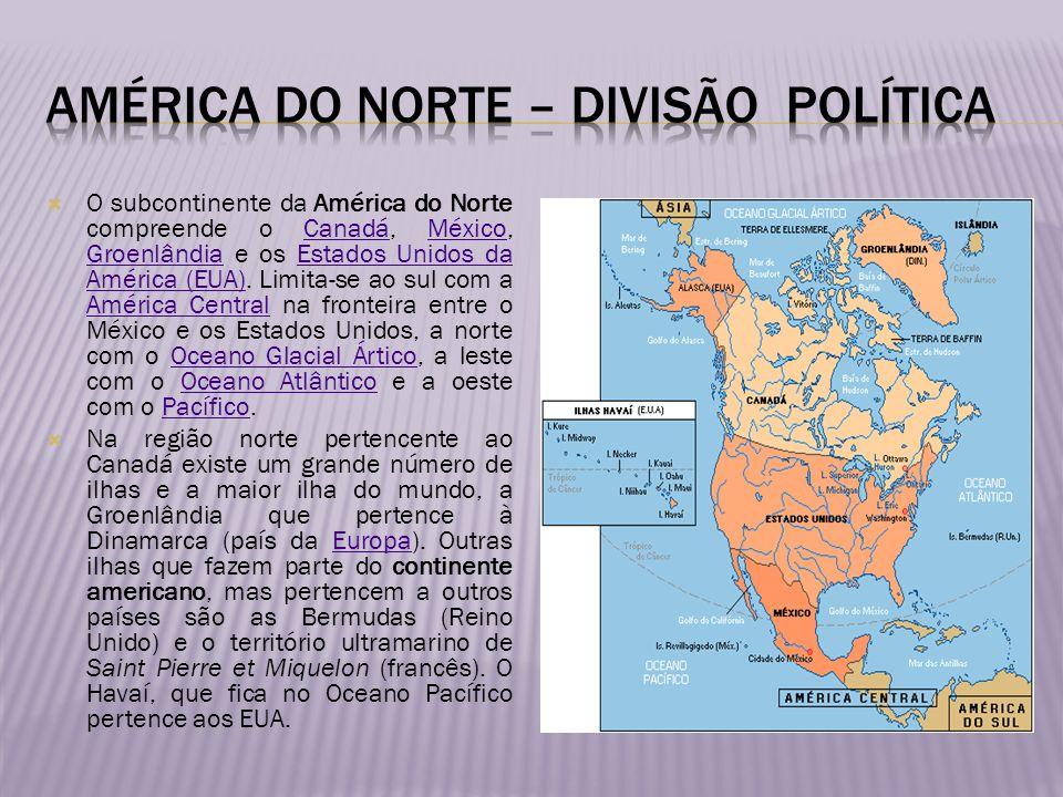 América do norte – divisão política