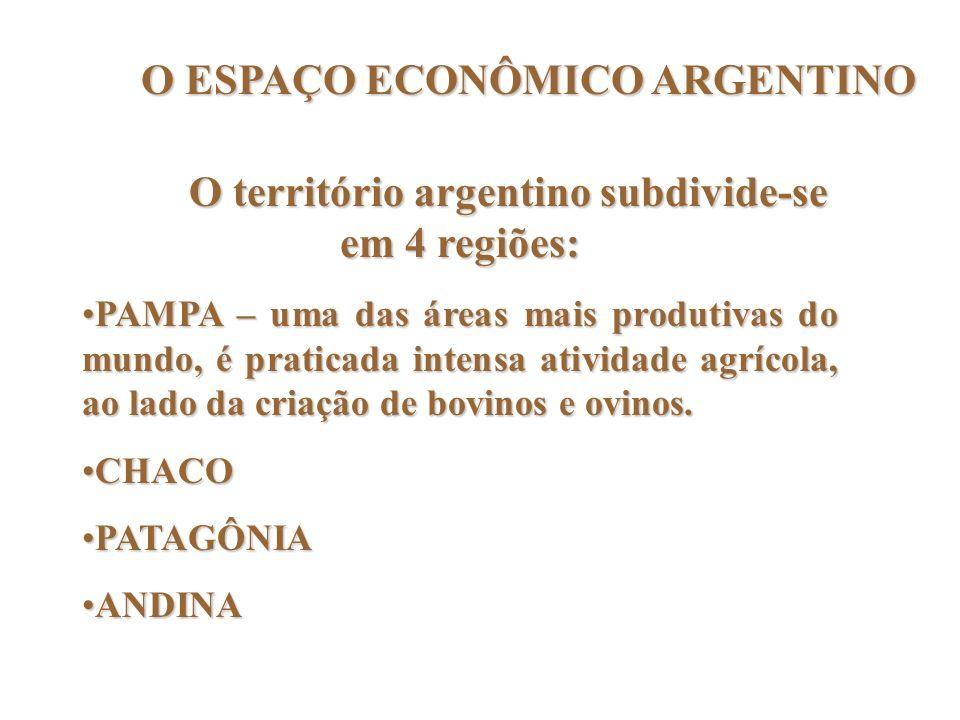 O ESPAÇO ECONÔMICO ARGENTINO