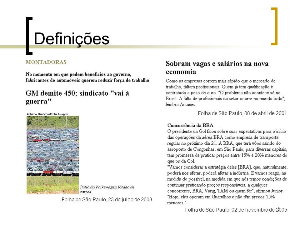 Definições Folha de São Paulo, 08 de abril de 2001