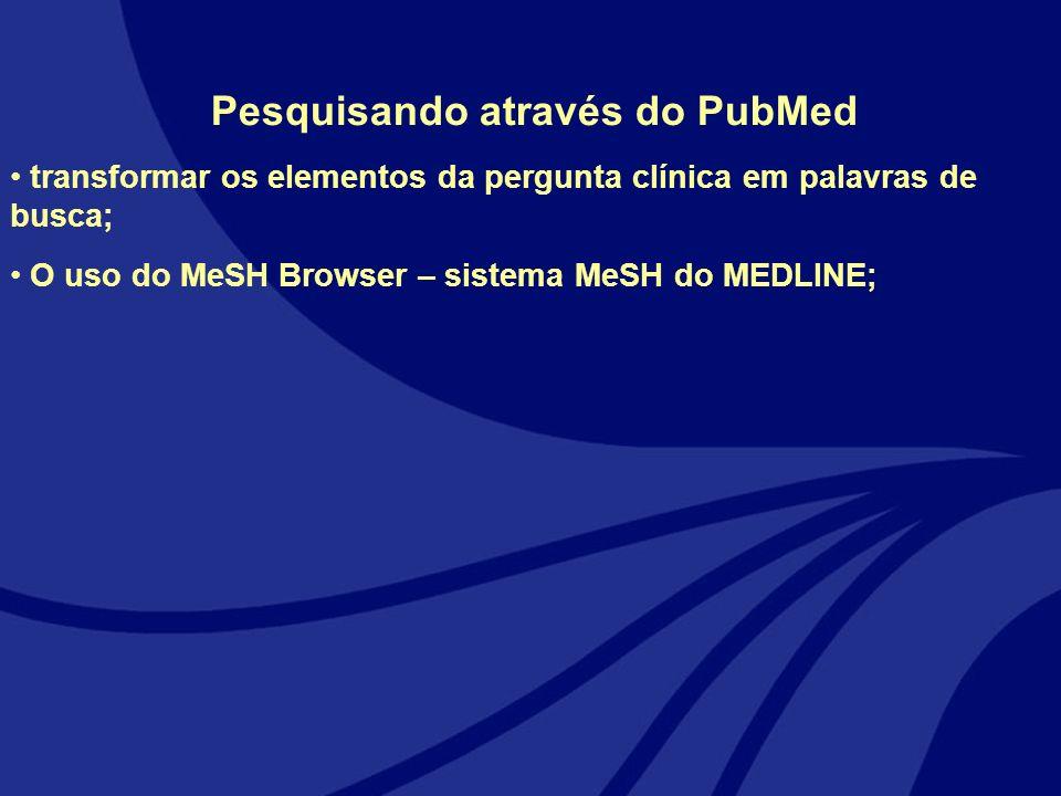 Pesquisando através do PubMed