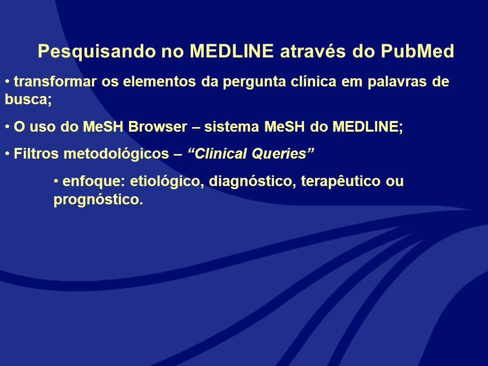 Pesquisando no MEDLINE através do PubMed