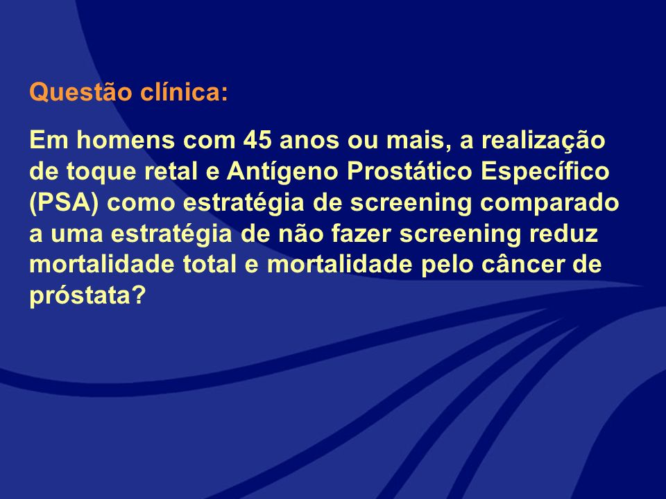 Questão clínica: