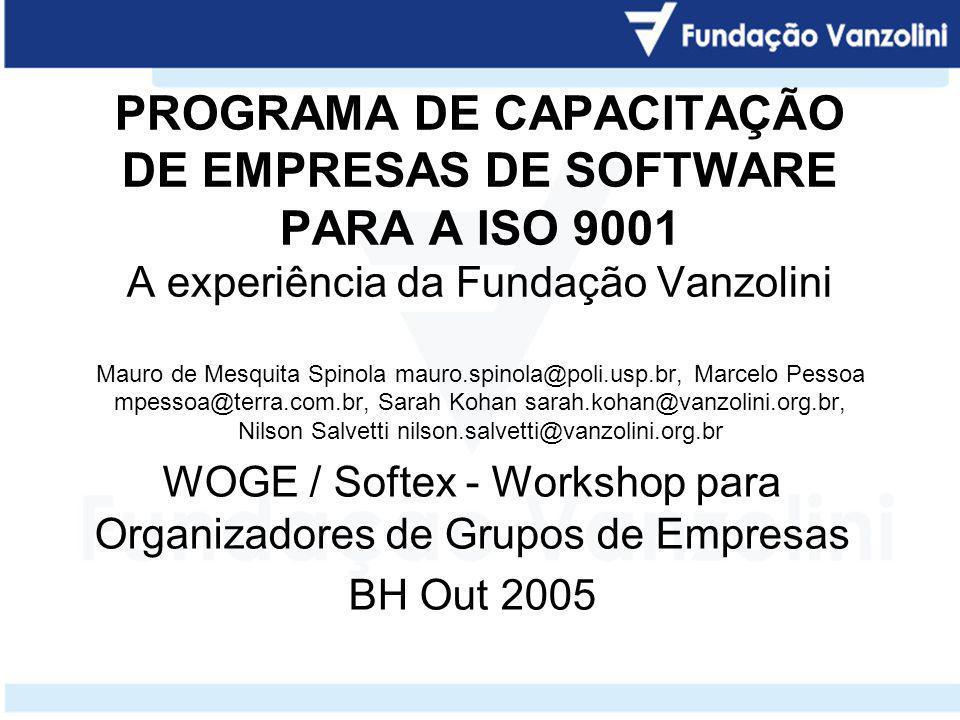 WOGE / Softex - Workshop para Organizadores de Grupos de Empresas