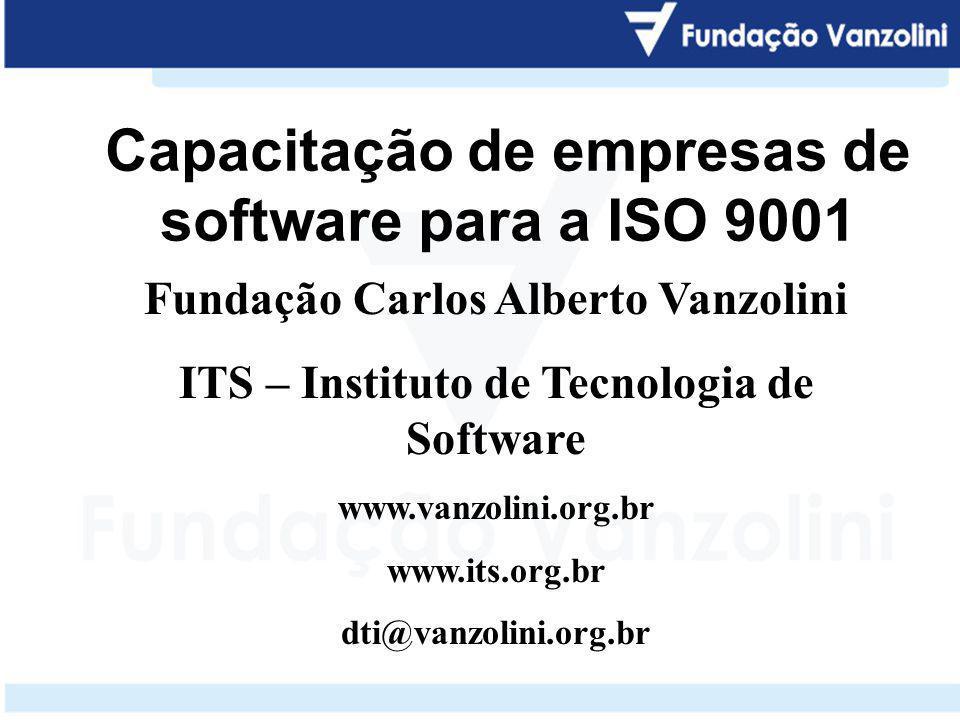 Capacitação de empresas de software para a ISO 9001
